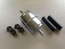 "GKI GF61M 5/16"" Metal Inline Gas/Fuel Filter & Hoses/Clamps fits G2 G12 GF61"