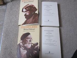 Michael Holroyd Augustus John Vol 1 & 2 Hand Signed Autograph 1st Edition Art