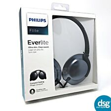 Philips SHL4805 Flite Everlite Headphones with Mic Black