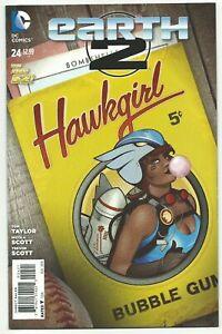 Earth 2 # 24 Bombshell variant cover DC Comics New 52 Hawkgirl