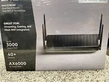 Linksys AX6000 Dual-Band Mesh Wi-Fi 6 Router - Black new