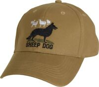 Coyote Brown Sheep Dog Adjustable Cap Baseball Hat