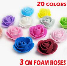 50 pcs Artificial Flowers Foam Roses Head Wedding Bride Bouquet Party Decor