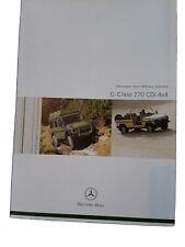Mercedes-Benz G-Wagen 270 CDi Military Vehicles 2006 Brochure