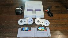Super Nintendo SNES Console w/OEM Controllers w/ Mario World & Kirby's Avalanche