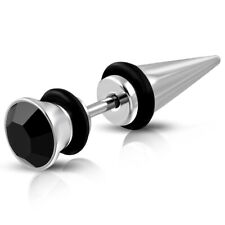 Edelstahl Piercing Fake Taper Expander G-1.2mm Ohr Zirkonia St.steel s-qpc062
