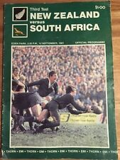 Rugby Programme - New Zealand vs South Africa 3rd Test 12/09/81 (FREE DELIVERY)