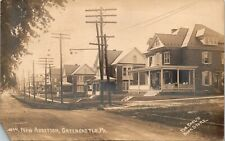 Postcard PA Greencastle RPPC Real Photo New Addition Houses 1911 M13
