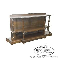 Neo Classical Revival Antique American Walnut Etagere Console