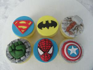 Edible Handmade Marvel Superhero Cupcake/Cake Topper Sugar paste Decoration