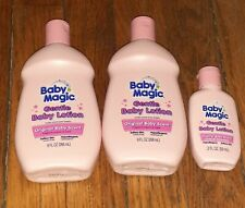 Lot Of 3 New Baby Magic Gentle Baby Lotion Hypoallergenic Softens Skin