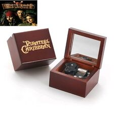 {Pirates of Caribbean } Wooden Engrave Music Box :  He's A Pirate