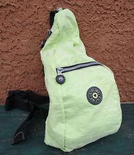 Kipling Lime Green Nylon Small Sling Mini Rucksack Backpack Handbag Bag