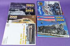 Lot of 7 K Line Trains catalogs and Brochures 2001-2004