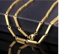 18k feine Goldkette Königskette vergoldet 55cm lang für Damen Herren Geschenk