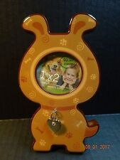 New listing Nwt Green Tree Gallery Dog Picture Frame w/ Silver Heart and Crystal 1 x 2 Photo