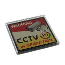 3.15 x 3.15in Solar Powered Flashing Warning Video Recording Cctv Sign