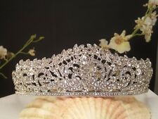 Silver Plated Austrian Crystal Bridal , Prom tiara Sweet 16 Tiara T-015-A