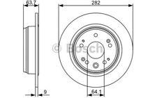 BOSCH Juego de 2 discos freno Trasero 282mm HONDA CR-V 0 986 479 505