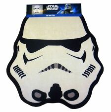 STAR WARS STORMTROOPER SHAPED FLOOR RUG KIDS WHITE BLACK FREE P+P