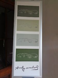 "Andy Warhol Classic Cars Collection Print Original Print 47"" x 17.5"""