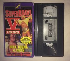 WCW Superbrawl V '95 (VHS, 1995) 5 NWO WWF WWE HULK HOGAN VADER RARE