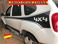 2x Laterales Adhesivas Renault Duster stickers Decal Vinilo Coche 4x4