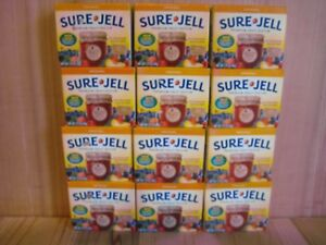 Sure Jell ORIGINAL Premium Fruit Pectin 1.75 oz Per Box Lot of 12 Exp JAN 2023