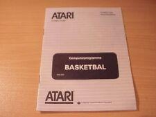 Atari XL/XE - BASKETBALL - Game Manual - Dutch/French Language