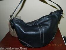 Coach Handbag Purse * 100% Leather Black - Zipper - Excellent Cond - Genuine