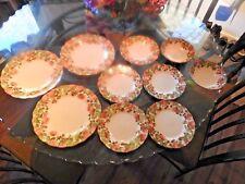 9 PC Nikko Precious Tableware 3 DINNER PLATES 4 SALAD PLATES & 2 CEREAL BOWLS