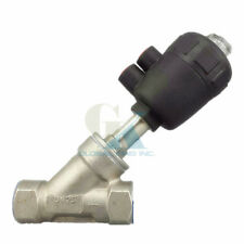 "DN40 1.5"" Stainless Steel BSP Double-Acting Air Actuated Angle Seat Valve N/C"