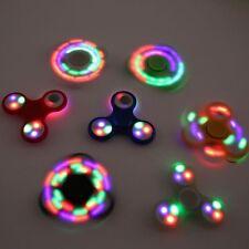 5 Pack 3 LED light Glowing Fidget Hand Spinner Finger Toy EDC Focus Gyro Kids