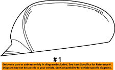 Dodge CHRYSLER OEM Door Side Rear View-Power Mirror Assy Right 5LD66FHGAC