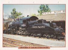 TRAINS DE LEGENDE - SWITCHER N°  4466 UNION PACIFIC TRAIN USA FICHE CLASSEUR