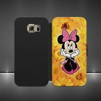 MINNIE MOUSE DISNEY LUXURY WALLET FLIP CASE COVER FOR ALL PHONE MODELS