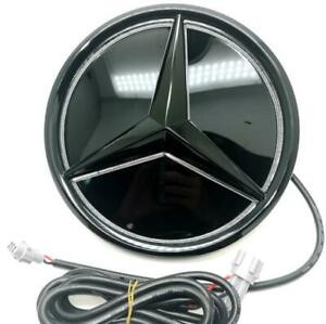 Illuminated LED Star Emblem For Mercedes Benz C Class C300 W205 2019-2021 Black