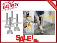 Scaffold Leveling Jacks 4-Pack With Hardware Adjustable  Galvanized Steel New