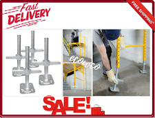 Scaffold Leveling Jacks 4-Pack With Hardware Adjustable Galvanized Steel New