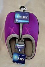 ISOTONER PURPLE Slippers WOMEN SZ Medium 7.5 - 8 Non Skid SOLE Memory Foam NEW!