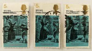 Charles Dickens 1812/1870 blue Copperfield 5d Stamp 1970