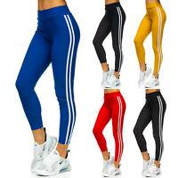 Leggings Sporthose Leggins Trainingshose Slim Fit Fitness Motiv Damen BOLF Sport