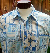 Hawaiian Tapa Tropical Hibiscus Aloha Camp Mens Large cotton Cooke Street