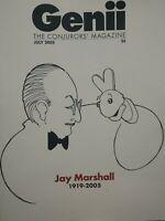 Jay Marshall Issue 2005 Genii Conjurors Magazine