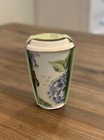 NEW w/tags Lenox Butterfly Meadow Blue Double Walled Lidded Travel Mug