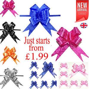 10-50 Pull Bows 30mm Wedding Car Gift Wrap Ribbon WATERPROOF Decorations UK
