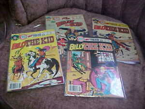 Vintage LOT OF 4 BILLY THE KID COMIC BOOKS VERY GOOD CONDITION IN PLASTIC