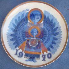 "1970 Santa Clara Porcelain *  ""X-MAS MESSAGE""  COLLECTORS PLATE  Spain Angels"