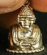 BUDDHA BUDDA SITTING HOLY FAITH BRACELET 3D CHARM .925 STERLING SILVER GOLD