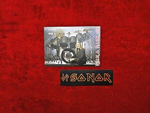 Iron Maiden *Nicko McBrain* Sonor Drums Promo & Paiste Sticker